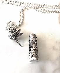 ashes locket sterling silver dragonfly custom cremation urn locket pendant