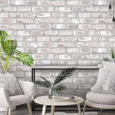 exposed brick wallpaper the joyful home company