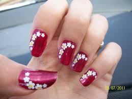 simple nail art flowersnailnailsart simple flower nail design