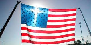 cross in the flag