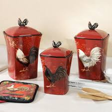 themed kitchen canisters kitchen theme decor sets images15 chicken kitchen decor