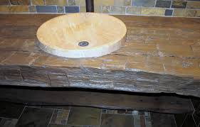 Ideas For Bathroom Countertops Awesome Rustic Bathroom Countertops 17 For Home Design Interior