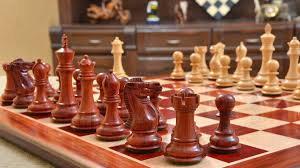 buy chess board with free chess pieces combo in bud rose wood online