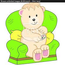 Cartoon Armchair Bear Sat In Armchair Cartoon Vector Yayimages Com