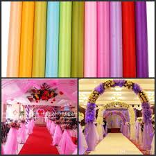 tulle backdrop fashion ribbon roll organza tulle yarn chair covers accessories