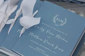 booklet wedding programs wedding day paper aerialist press