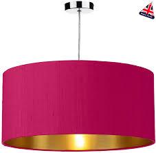 dar zuton 50cm gold lined silk lamp shade various colours zut20