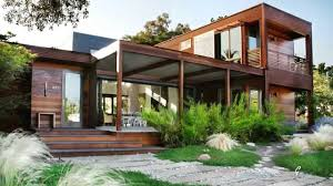 Concrete Pergola Designs by Exterior Elegant Container Houses With Dark Wood Siding And Glass