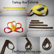thanksgiving hair bows turkey ribbon bow tutorial thanksgiving ideas theyummyfactory