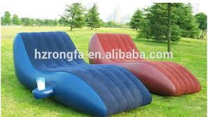 2015 new design flocking bed for relax outdoor air sofa chair