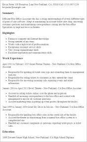 sle resume templates accountants office log box office assistant resume template best design tips