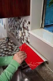 stick on kitchen backsplash tiles impressive wonderful peel and stick backsplash tile kits kitchen