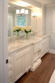 Masters Bathroom Vanity by Double Vanity With Cabinet Storage On Either Side Lighting Built
