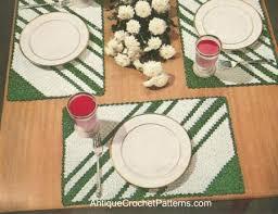 striped placemat pattern free crochet pattern