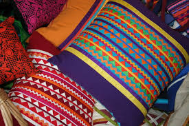 ribbon pillows cemanahuac
