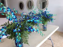 blue centerpieces how to diy wedding centerpieces using orchids malone