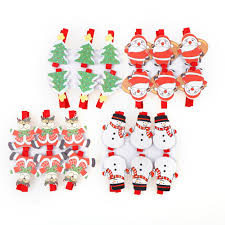 online shop 6pcs set 3 5 1cm santa claus christmas wood clips
