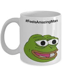 Meme Mug - pepe coffee mug feels good man mug from feels bad man meme