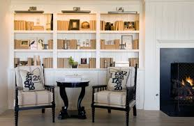 White Cottage Bookcase by Fireplace Bookshelves Design Ideas