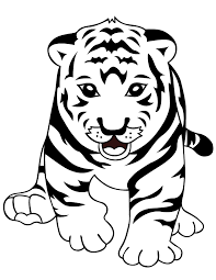 snow tiger coloring page snow tiger baby sled best tiger gallery 2018
