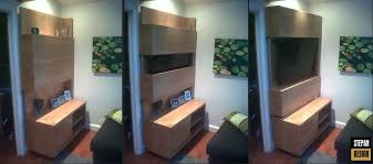 hand crafted floating modern media cabinet by stepan design