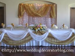 Wedding Head Table Decorations by Table Decorations With Burlap Instead Of Tan Fabric Wedding