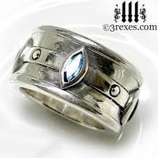 blue wedding rings moorish marquise wedding ring 3 rexes jewelry