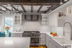 white shaker kitchen cabinets with white subway tile backsplash boston charlestown traditional transitional kitchen