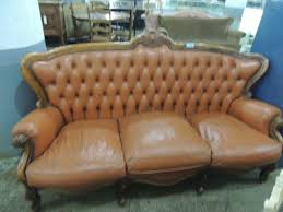 Victorian Leather Sofa Beautiful Antique Vintage Victorian Leather Sofa