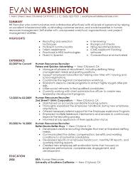 Resume Samples For Warehouse Resume Sample Summary Recruiting And Employment Resume Example