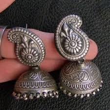 jumka earrings silver jhumka earrings shaila