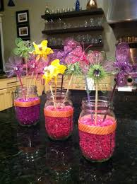 Baby Shower Centerpieces Ideas by Mason Jar Baby Shower Centerpiece Idea I Used Aquarium Gravel