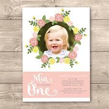 personalised 1st birthday invites advita info