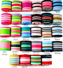 grograin ribbon striped grosgrain ribbon 1 1 2 inch and 7 8 inch hairbow