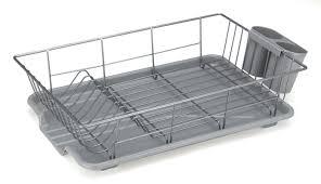Dish Drainers Basicwise Stainless Steel Dish Rack Plate U0026 Reviews Wayfair