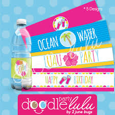 Printable Hawaiian Decorations Party Printables Diy Party Favors Luau Party Decorations Water