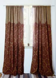 bohemian curtains block print curtains and naturally dyed ichcha