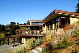 hillside home designs amazing contemporary hillside home design in marin county by
