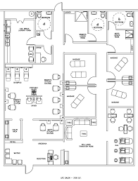 floor layout plans salon spa floor plan design layout 3105 square foot