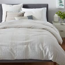 Natural Linen Duvet Cover Queen Belgian Linen Ikat Stripe Duvet Cover Shams Natural Flax