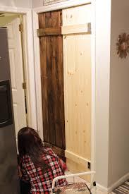 Barn Door Photos Double Pantry Barn Door Diy Under 90 Bifold Pantry Door Diy