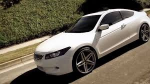 2013 honda accord with 20 inch rims white honda accord on some 20 lexani r 5 wheels