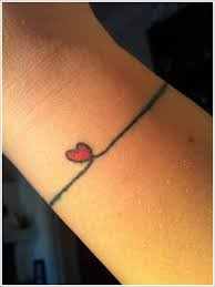 simple heart tattoo designed on wrist design of tattoosdesign of