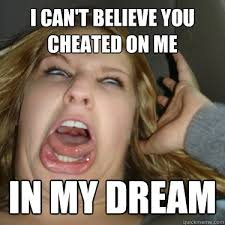 I Had A Dream Meme - i can t believe you cheated on me in my dream momentarily insane