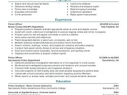 Law Enforcement Resume Template Sample Criminal Justice Resume Law Enforcement Resume Examples