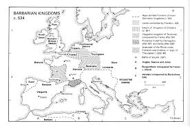 Map Snap Europe by Atlas Of Medieval Europe Barbarian Kingdoms C 534 Ce