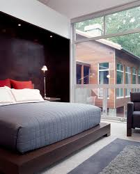 Bedroom With Accent Wall by Platform Bed Ideas Bedroom Modern With Accent Wall Awning Windows