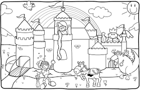 And Knights Coloring Pages Coloring Pages Castles