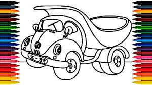 car toy kids coloring book fun painting learning colors