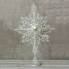 metal wire burst tree topper black and white themed tree